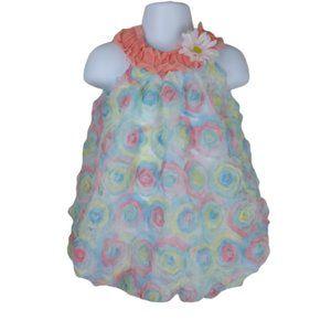Little Lass Baby Girls Floral Lace Romper